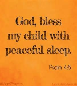Psalm 4-8 grant peaceful sleep
