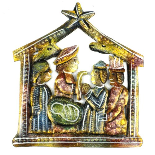 painted-recycled-steel-drum-nativity-haiti