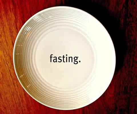 fasting - empty plate