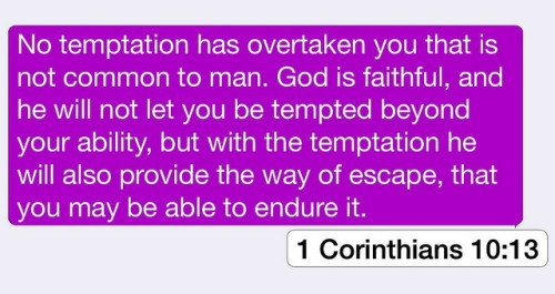 1 Cor 10-13 no temptation