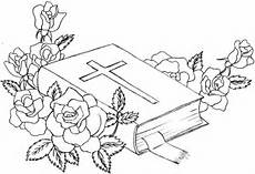 Bible with flowers, drawing