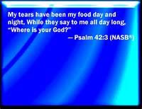 Psa 42-3 tears, my food