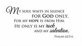 Psa 62 my soul in silence