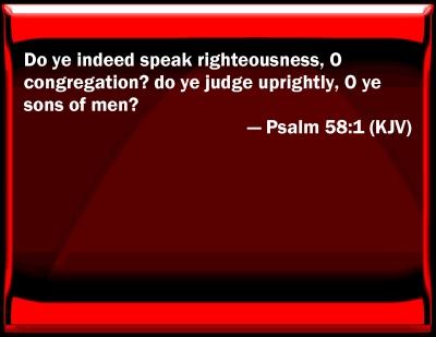 Psa 58-1, words