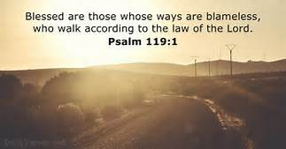 Psa 119-1 those who are blameless, road