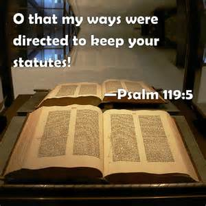 Psa 119-5 steadfast ways, bible