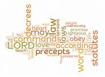 Psalm 119 word cloud