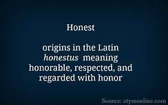 honest definition