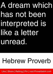 dream not interpreted, letter not read