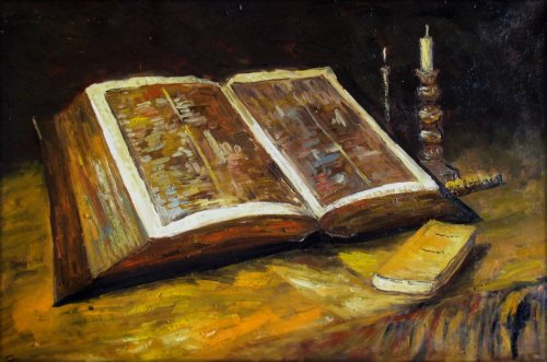 bible still life, van gogh